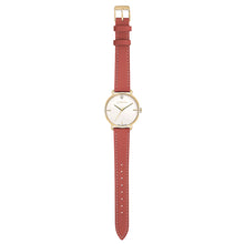 Pure Diamond Champagne Gold Peachy Coral Strap Watch | 36mm