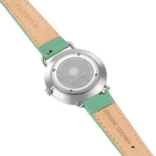Pure Diamond Palm Green and Silver Watch | 36mm