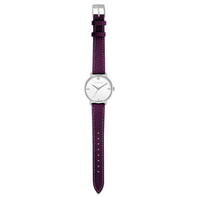 Pure Diamond Silver Chic Orchid Purple Strap Watch | 36mm