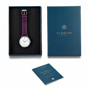 Pure Diamond Orchid Purple and Silver Watch | 36mm