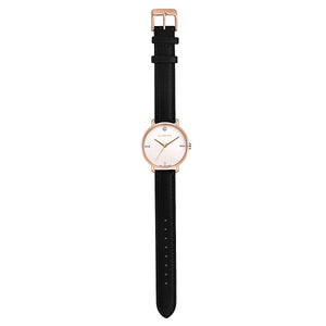 Classic Diamond Eagle Black and Rose Gold Watch | 36mm