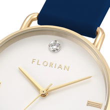 Pure Diamond Navy Blue and Champagne Gold Watch | 36mm