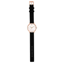 Pure Diamond Rosy Gold Pure Black Silicon Strap Watch | 36mm