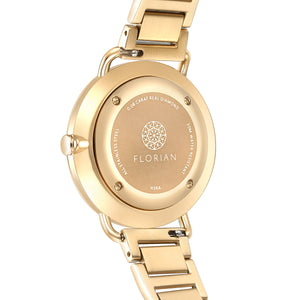 Ocean Diamond MOP Dial Champagne Gold Bracelet Watch | 36mm