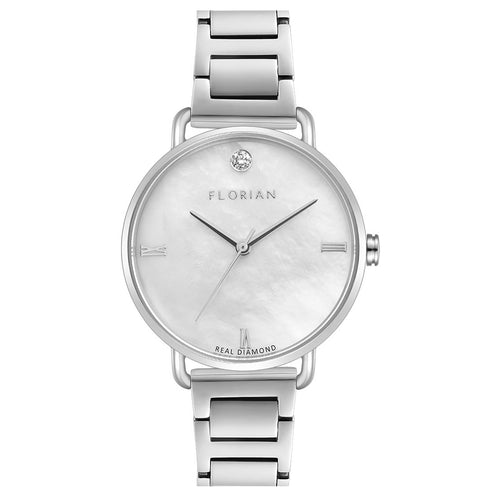 Ocean Diamond MOP Dial Silver Chic Bracelet Watch | 36mm