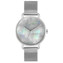 Candy Diamond Colorful MOP Dial Silver Chic Mesh Watch | 36mm