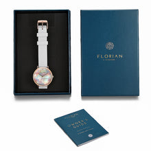 Candy Diamond Colorful MOP Dial Pure White and Rose Gold Watch | 36mm