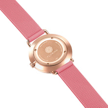 Candy Diamond Colorful MOP Dial Rosy Gold Panther Pink Silicon Strap Watch | 36mm