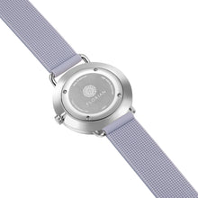 Candy Diamond Colorful MOP Dial Silver Chic Lilac Violet Silicon Strap Watch | 36mm