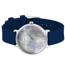 Candy Diamond Colorful MOP Dial Navy Blue and Silver Watch | 36mm