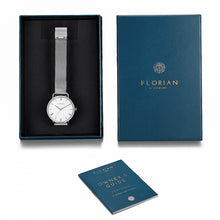 Classic Roman Silver White Dial Silver Mesh Watch | 36mm