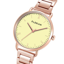 Classic Roman Lemon Yellow Dial Rosy Gold Bracelet Watch | 36mm