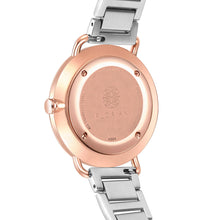 Classic Roman Palm Green Dial Silver and Rose Gold Bracelet Watch | 36mm