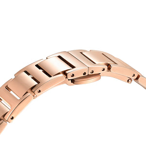 Classic Roman Milky Purple Dial Rose Gold Bracelet Watch | 36mm