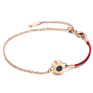 Rainbow Diamond Rosy Gold Ruby Red Aroma Bracelet