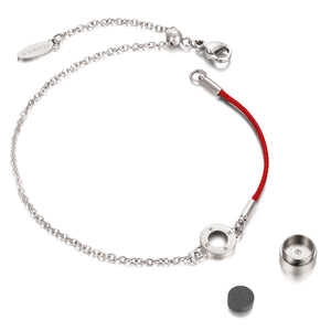 Aroma Rainbow Diamond Ruby Red and Silver Bracelet