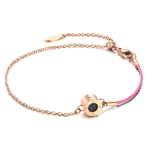 Rainbow Diamond Rosy Gold Sweet Pink Aroma Bracelet