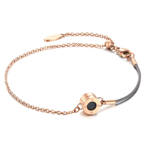 Rainbow Diamond Rosy Gold Cool Grey Aroma Bracelet