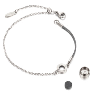 Rainbow Diamond Silver Chic Cool Grey Aroma Bracelet