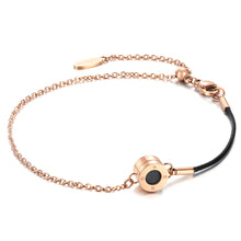 Rainbow Diamond Rosy Gold Pure Black Aroma Bracelet