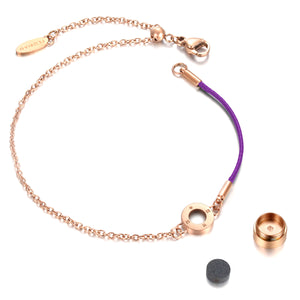 Aroma Rainbow Diamond Bright Violet and Rose Gold Bracelet