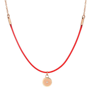 Rainbow Diamond Rosy Gold Ruby Red Aroma Necklace