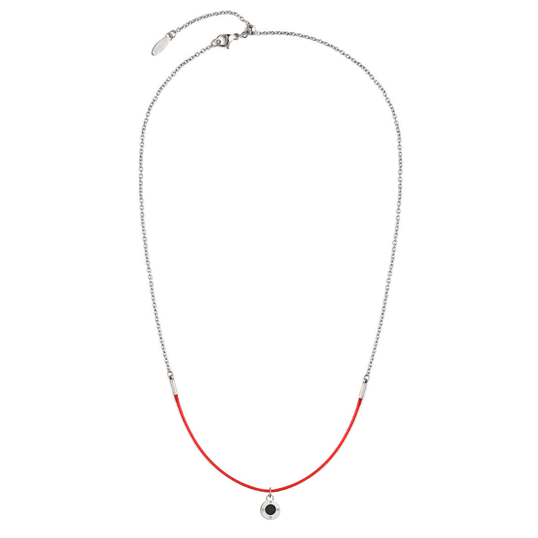 Rainbow Diamond Silver Chic Ruby Red Aroma Necklace