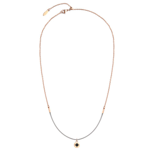 Rainbow Diamond Rosy Gold Cool Grey Aroma Necklace