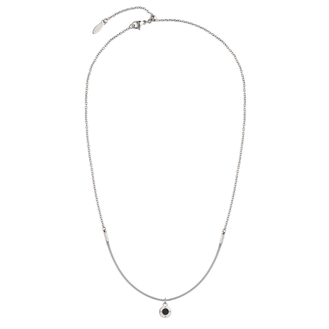 Rainbow Diamond Silver Chic Cool Grey Aroma Necklace