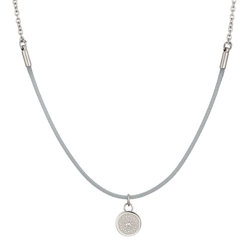Aroma Rainbow Diamond Cool Grey and Silver Necklace