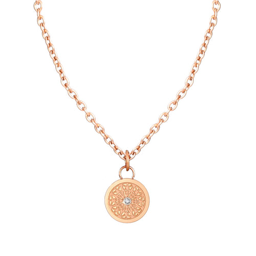 Aroma Fragrance Diamond Rose Gold Necklace