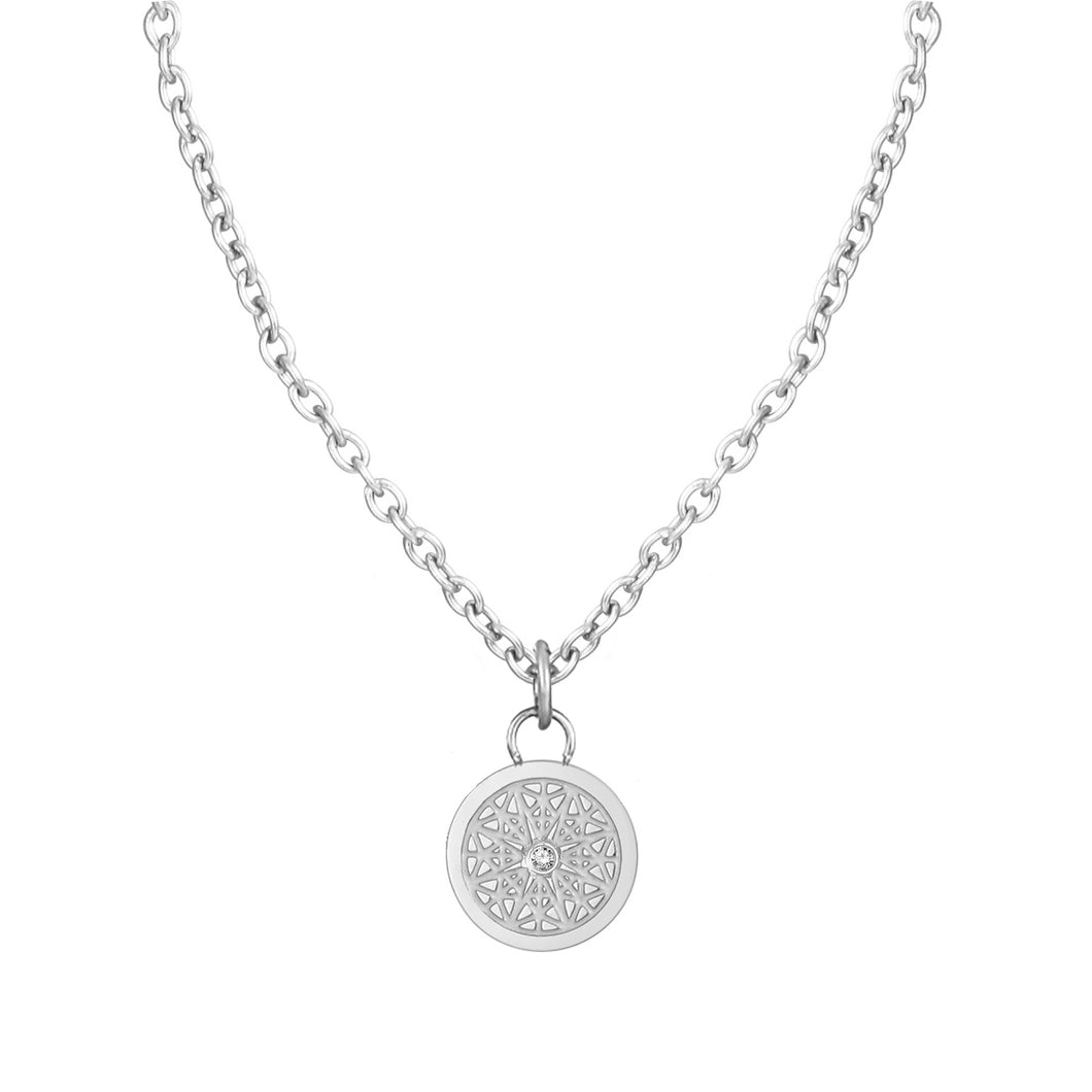 Aroma Fragrance Diamond Silver Necklace