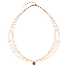 Wire Diamond Gold Fever & Rosy Gold Aroma Necklace