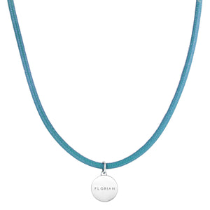 Aroma Magnetic Aqua Blue Stress Relief Necklace