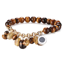 Aroma GEM Tigerite Bracelet with Charm + Free France Organic Essential Oil (3 Set Only)