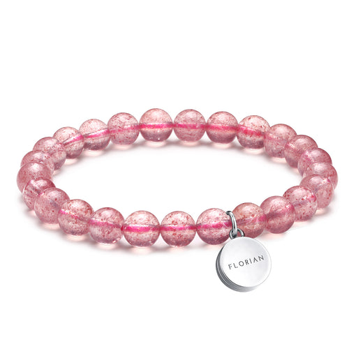 Strawberry Quartz Aroma Bracelet