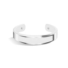 Tailor Pure White and Silver Bangle | 15mm