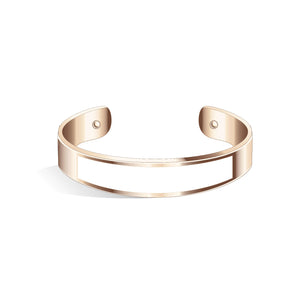 Tailor Tenne Brown Rosy Gold Bangle | 15mm