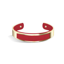 Tailor Cherry Red Champagne Gold Bangle | 15mm