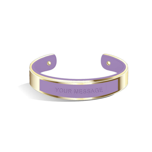 Tailor Creamy Purple Champagne Gold Bangle | 15mm