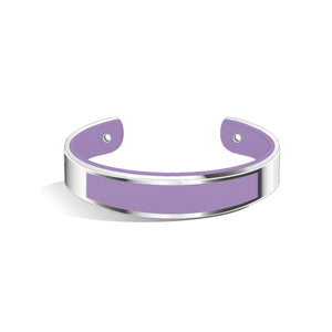 Tailor Creamy Purple Silver Chic Bangle | 15mm