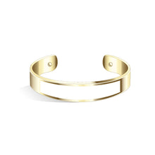 Tailor Pure Black Champagne Gold Bangle | 15mm