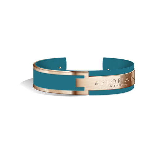 Diamond Teal Blue Metropolitan Rose Gold | 20mm