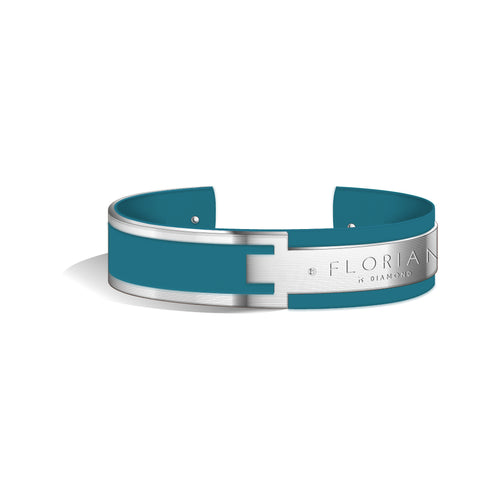 Diamond Teal Blue Metropolitan Silver | 20mm