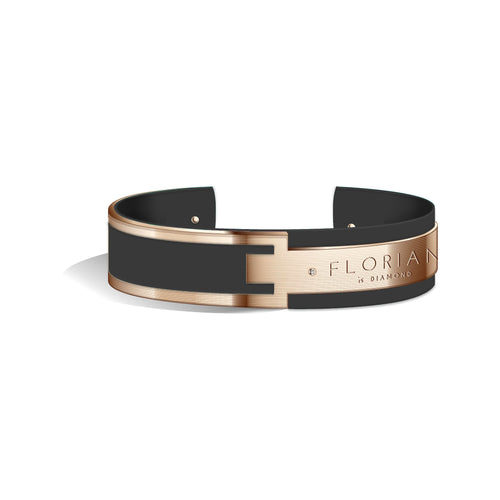 Diamond Pure Black Metropolitan Rose Gold | 20mm