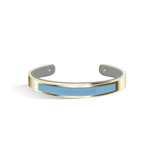 Angel Blue & Cool Grey Petite Tailor Light Gold | 9mm