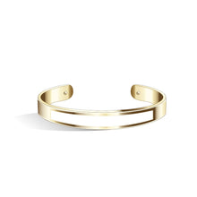 Petite Tailor Angel Blue & Cool Grey Champagne Gold Bangle | 9mm