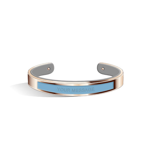 Angel Blue & Cool Grey Petite Tailor Rose Gold | 9mm