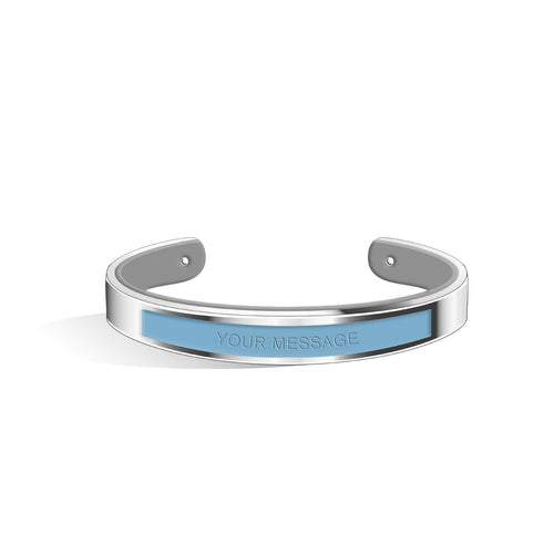 Angel Blue & Cool Grey Petite Tailor Silver | 9mm