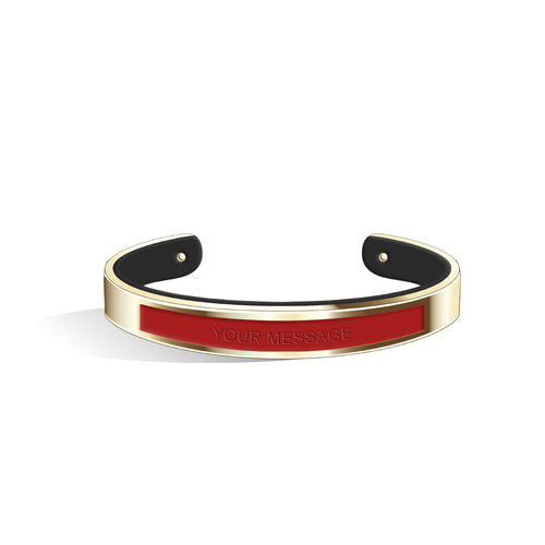 Cherry Red & Pure Black Petite Tailor Light Gold | 9mm